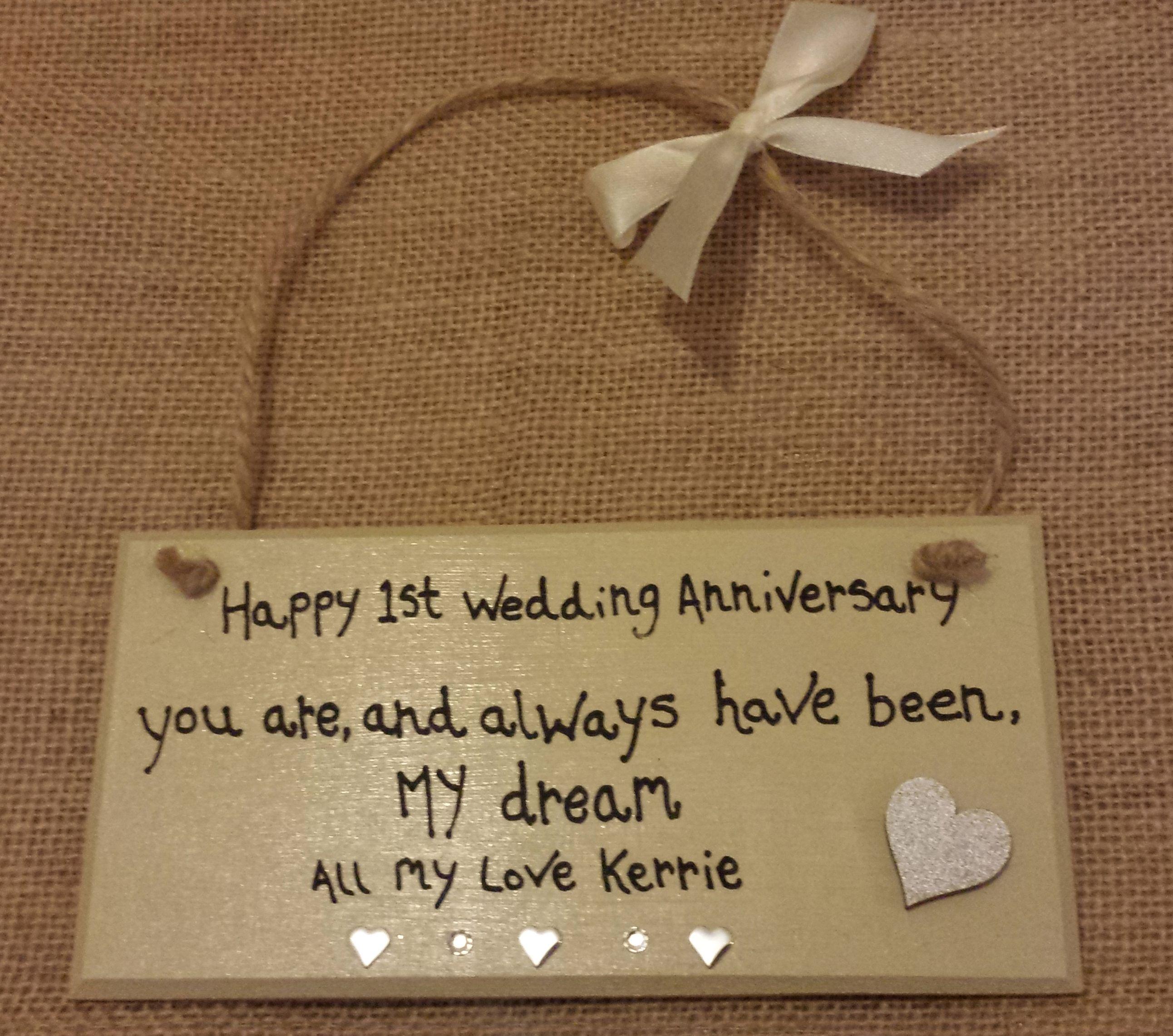 happy anniversary plaque