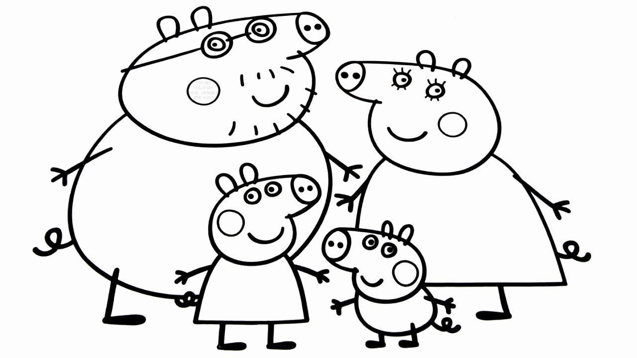 Peppa Pig Coloring Book Best Of Peppa Pig Family Coloring Book Coloring Pages Video For Kids Peppa Pig Coloring Pages Peppa Pig Colouring Family Coloring Pages