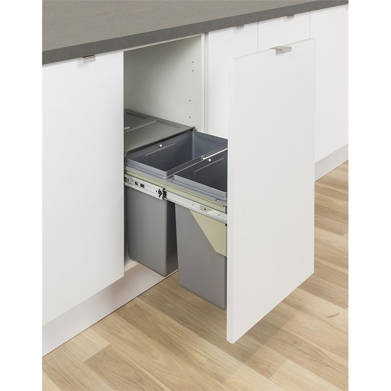find kaboodle soft close waste bin 2 x 16l at bunnings warehouse visit your local store for the on kaboodle kitchen bunnings drawers id=22384
