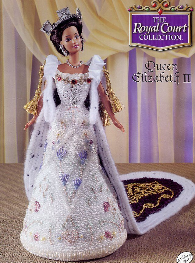 Queen Elizabeth II Outfit for Barbie Doll Annies Royal Court Crochet Pattern NEW