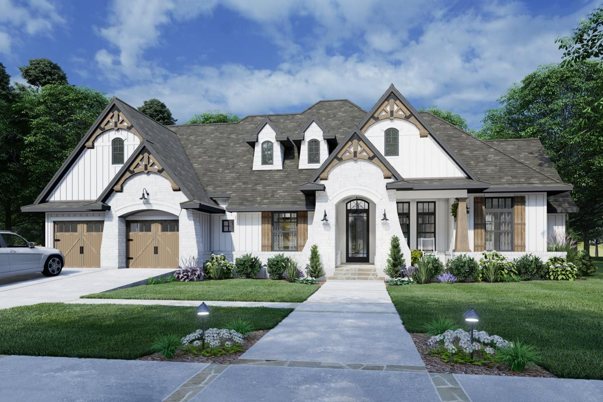 Plan 16911wg Classic French Country Home Plan With Ample Outdoor