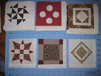 Aunt Reen's Place: Sashing instructions for Dear Jane blocks