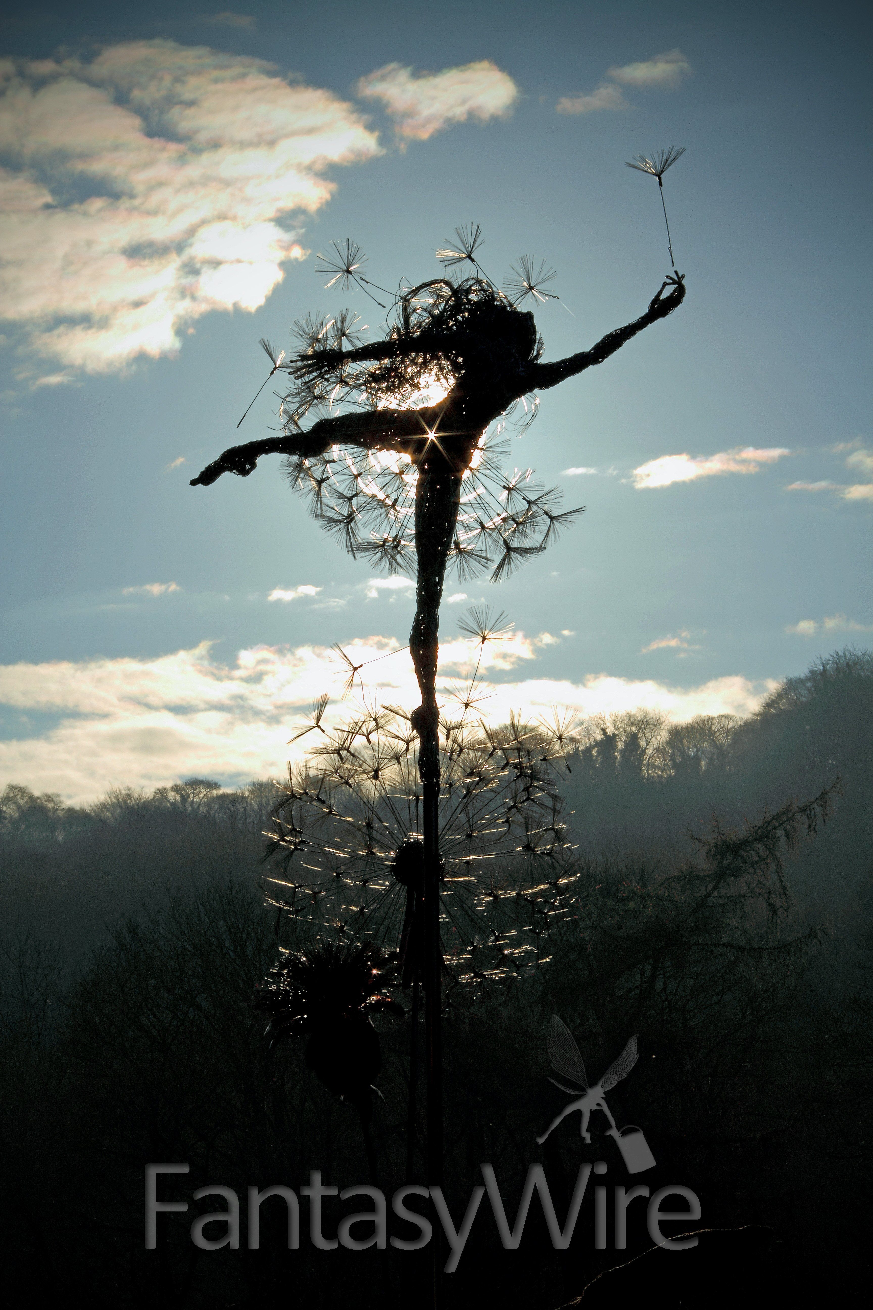 dancing with dandelions and robin wight sculpture pinterest