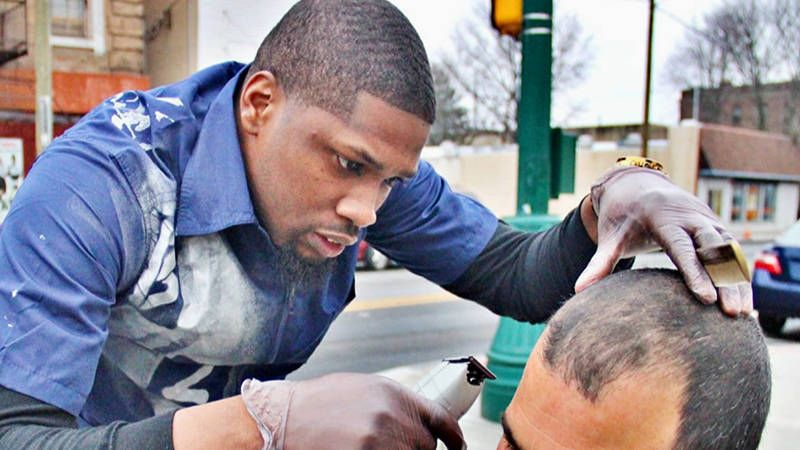 29 Year Old Philadelphia Pa Helping The Less Fortunate One Haircut