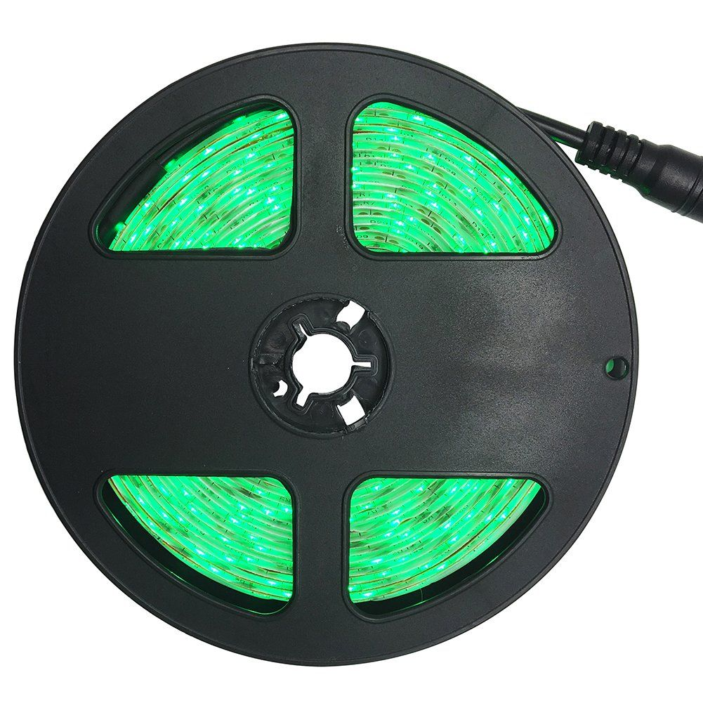 Green Led Light Strips Interesting Led Light Strip 300Leds 12V 164Ft5M 3528 Smd No Power Supply Decorating Inspiration