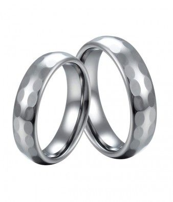 Couple's 6MM Hoop Huggue Tungsten Wedding Bands Set | Tungsten Carbide Rings 24HOUR SHIPPING