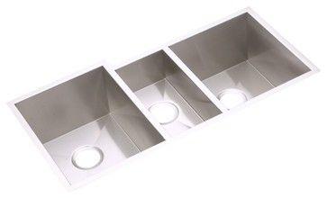 Elkay Avado Undermount Triple Bowl Kitchen Stainless Steel Sink  Contemporary Kitchen Sinks
