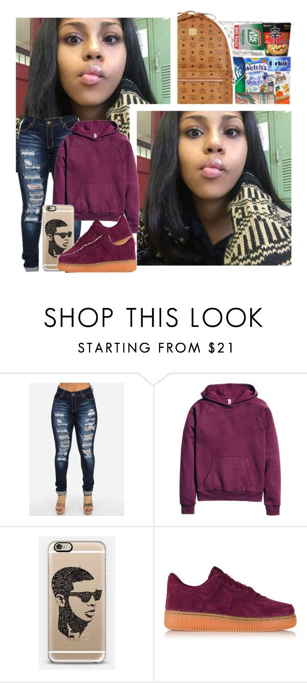 """""""Date Night ~ Deja"""" by anons2trill ❤ liked on Polyvore featuring H&M, Casetify and NIKE"""