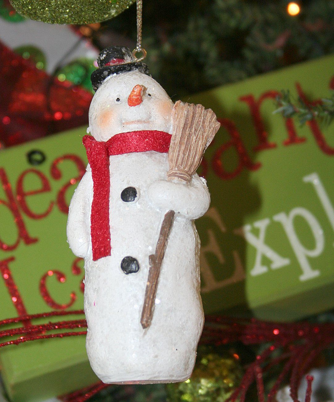 Snowman ornament from Warmbier Farms Christmas ornaments