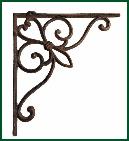 Eckregal Winkel Regalhalter Gusseisen Ornament Antik DAWANDA - ideen fur regenschirmstander innendesign bestimmt auswahl