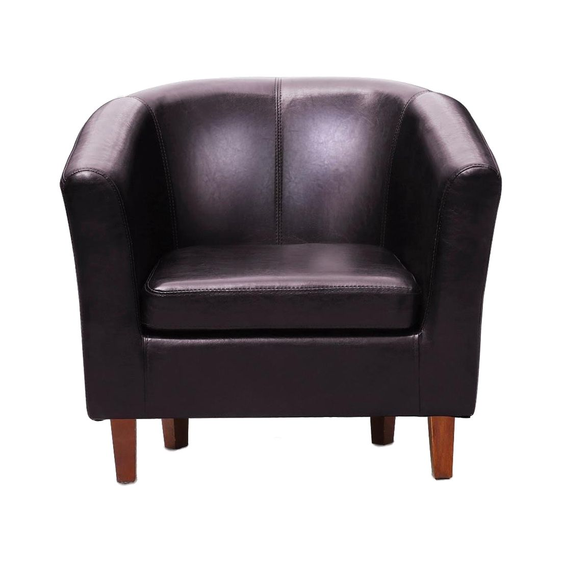 Best Leather Tub Chair Armchair For Dining Living Room Office