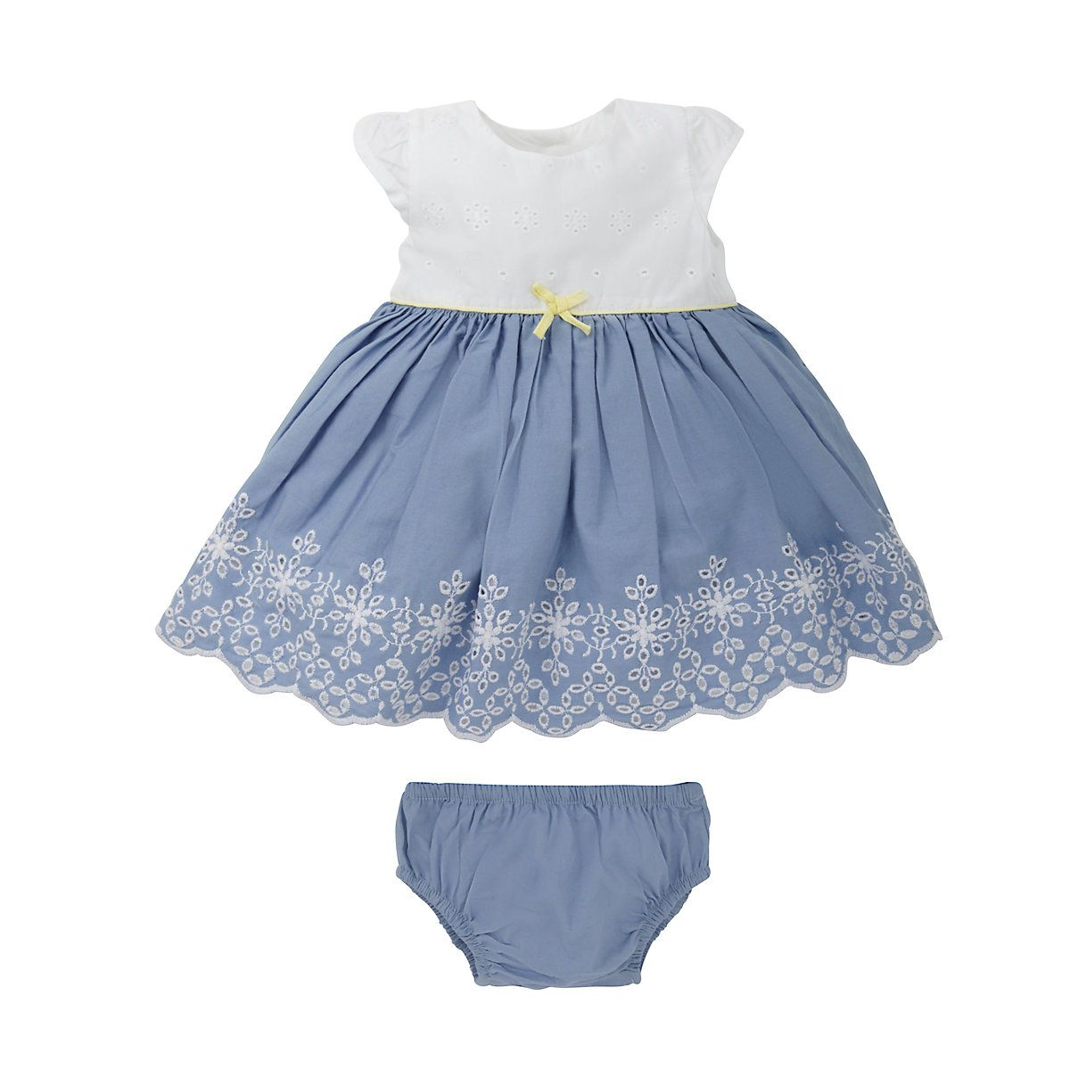 Blue Embroidered Romper Dress | Baby checklist, Babies and Future baby