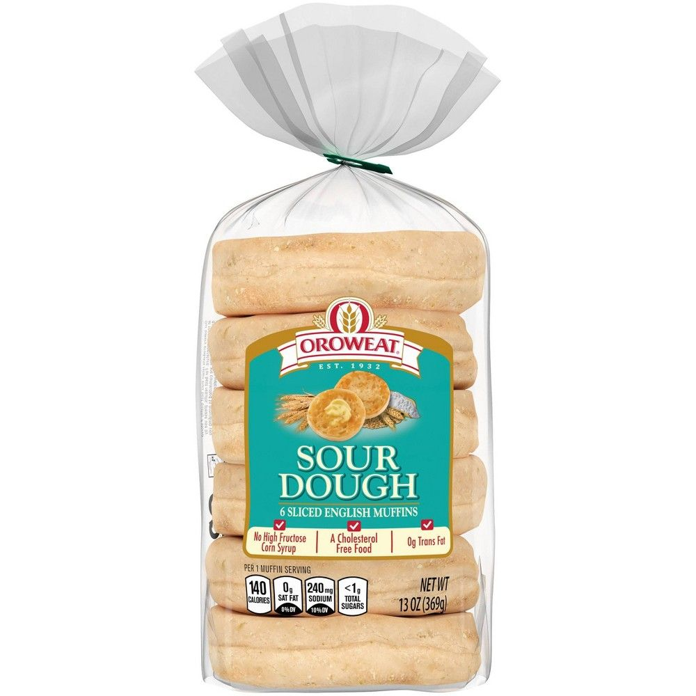 Oroweat sour dough english muffins are soft, tangy, and delicious when toasted. Top with butter or your favorite spread, and savor that old world sourdough flavor.