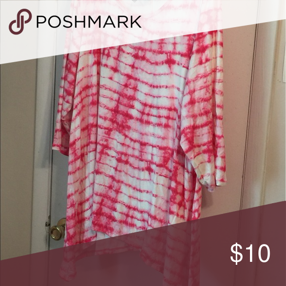Tunic Red and white tunic Tops Tees - Short Sleeve