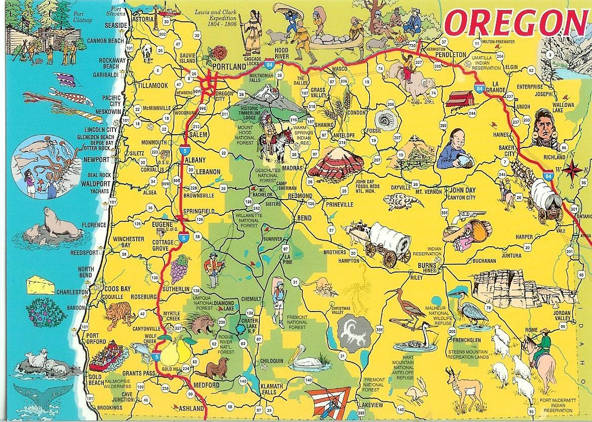 Oregon map Yahoo Image Search Results Favorite Vacation Spots
