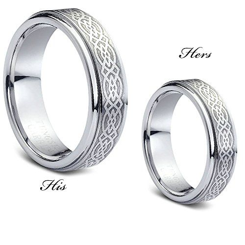 7MM Celtic Knot Brushed Finish - Tungsten Carbide Wedding Band - Promise Ring-EngaSynthetic Gement Ring *** Visit the image link more details.