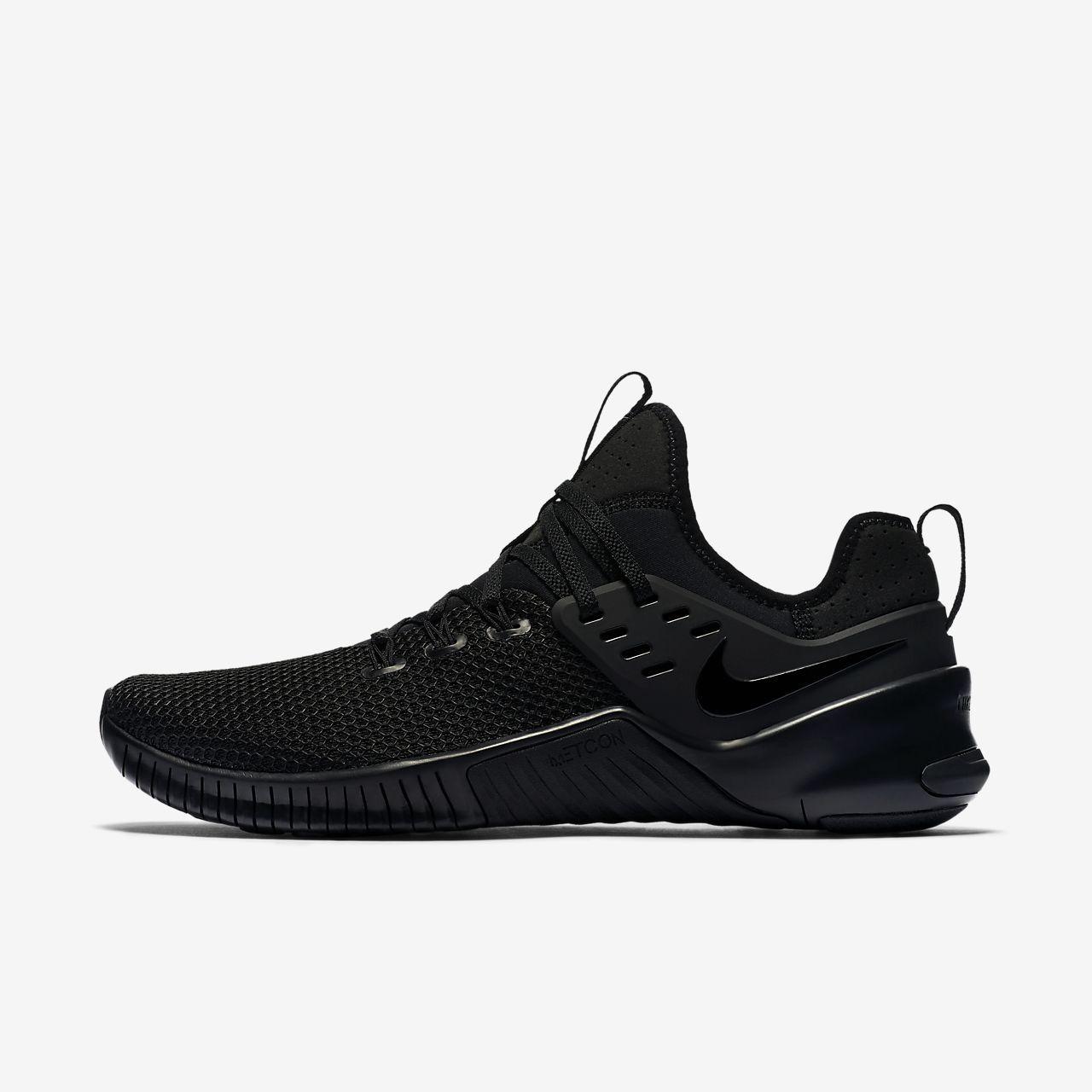 timeless design 0eadd 21469 Nike Free x Metcon Gym Cross Training Shoe Black Black Black size 12