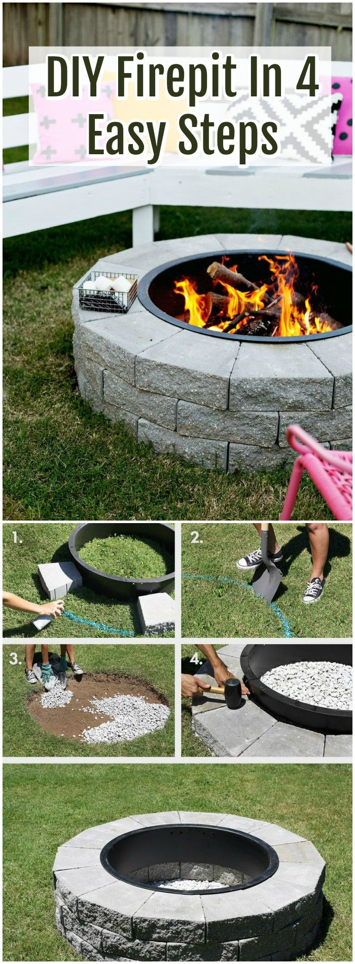 The Range Fire Pit Part - 28: The Range Of The DIY Fire Pit Ideas Is Very Wide Which Are Easy To Build  And Accentuated With Different Sources And Materials. So I Have Made A List  Of Easy ...