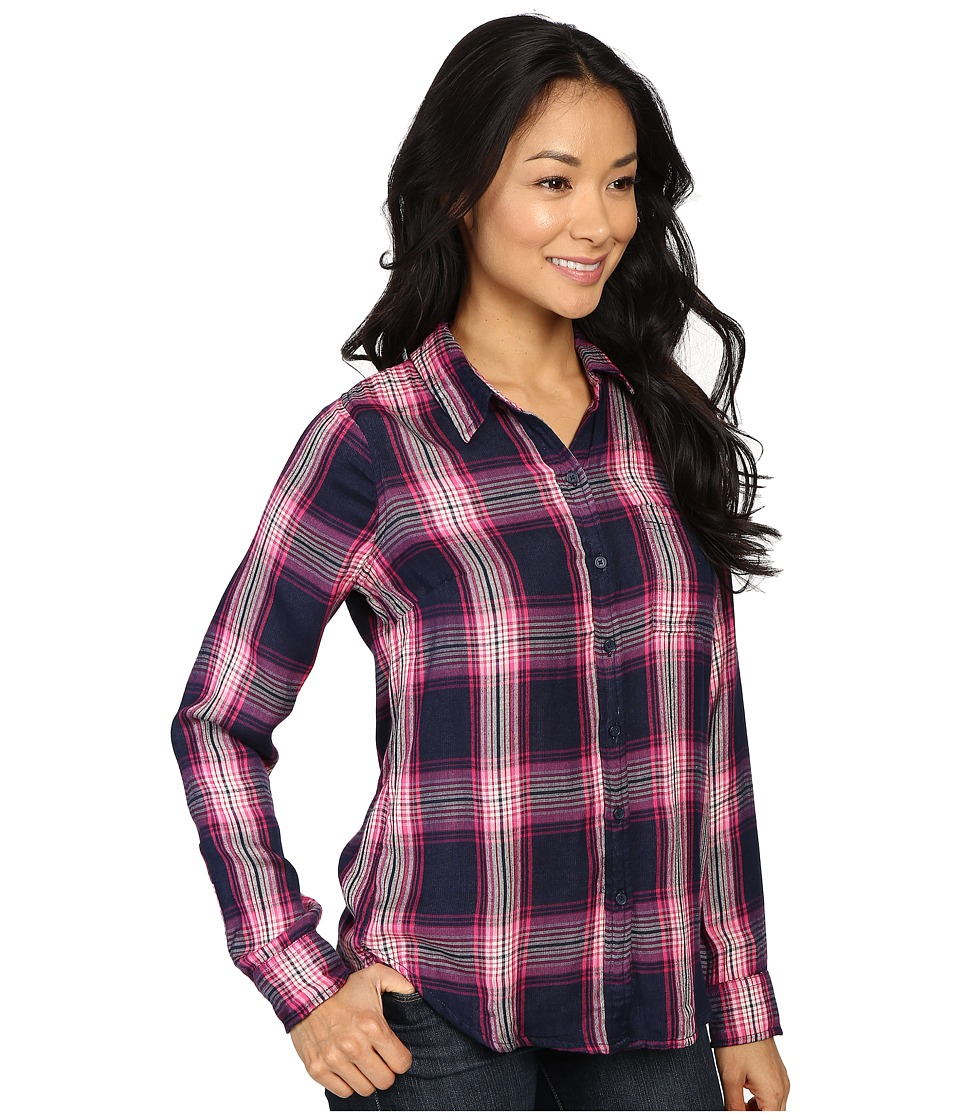 9a33c916441 Lucky Brand Duo Fold Plaid Shirt Women s Clothing Pink Multi ...