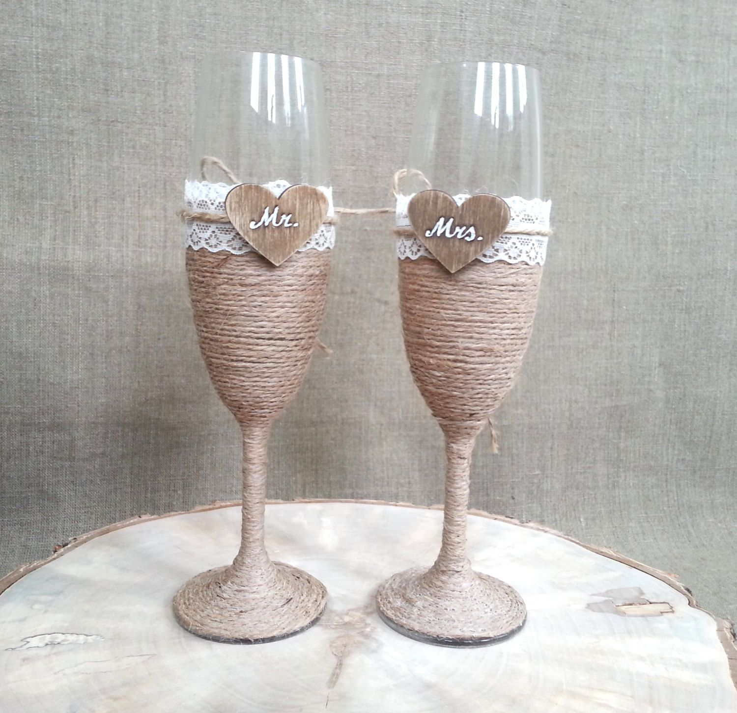 Personalized Wedding Champagne Glasses, Bride And Groom Toast Glasses, Wedding