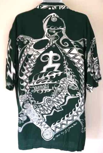 1335ff02003 Moorea Bora Bora turtle honu design shirt... -- Wow! This is intense. But  awesomely so.