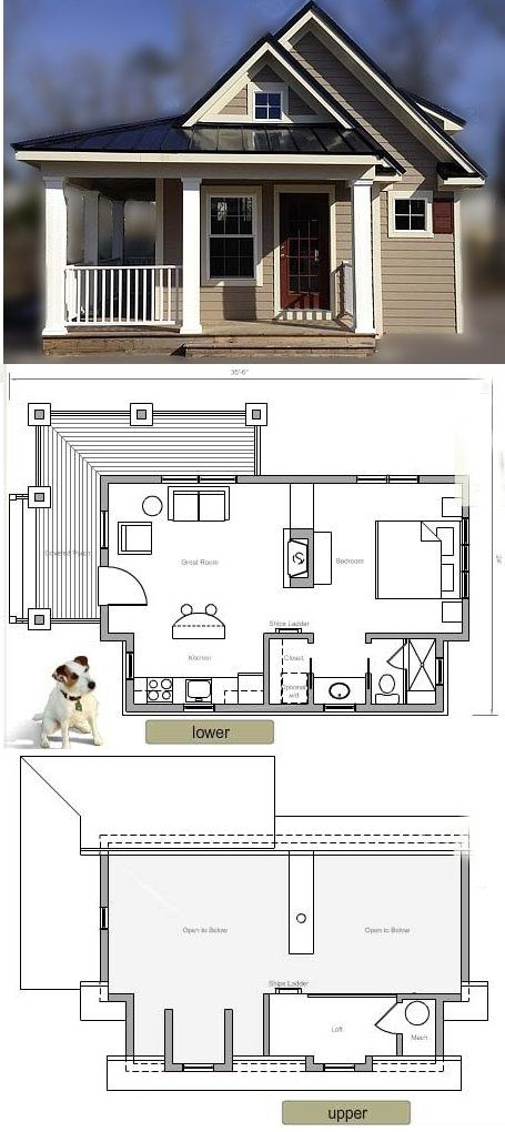 317 Square Feet Tiny House Plans Small House Plans House Plans
