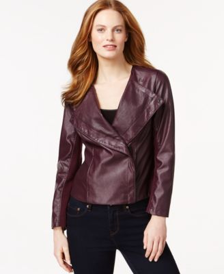 edb7fa38096 Calvin Klein Jeans Faux-Leather Perforated Jacket | ....Come See How ...