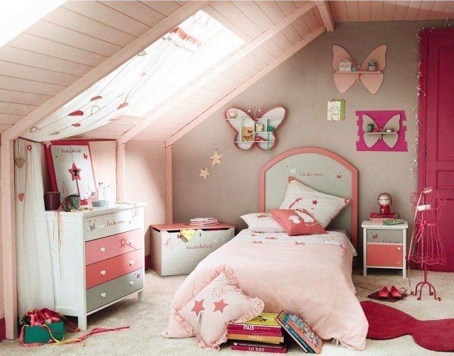 déco chambre fille sous comble | aménagement maison | Pinterest ...