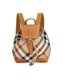 Burberry - Kid's Check Backpack. So its kids, but probably a great size!