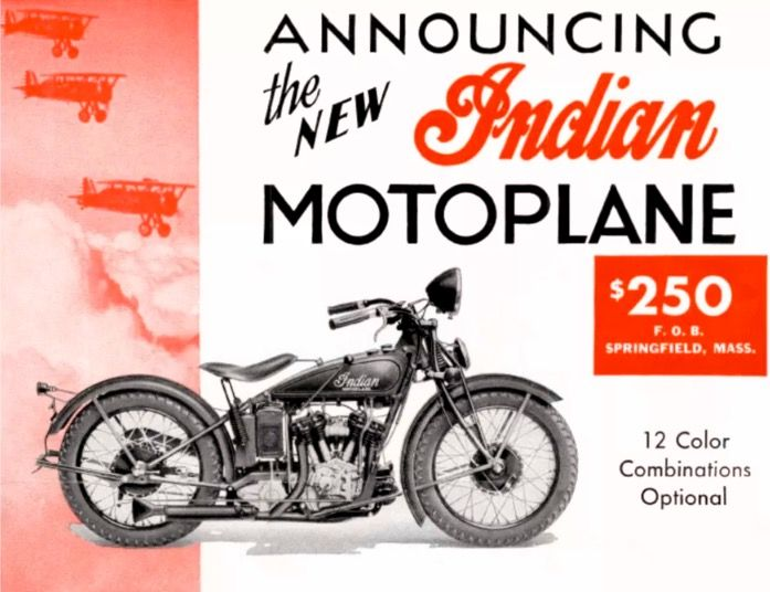 1933 Indian Motoplane, one year only model. They stuffed a std ...