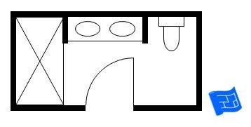 Bathroom Layouts Small Master Baths 9ft x 5ft master bathroom floor plan with shower. | master