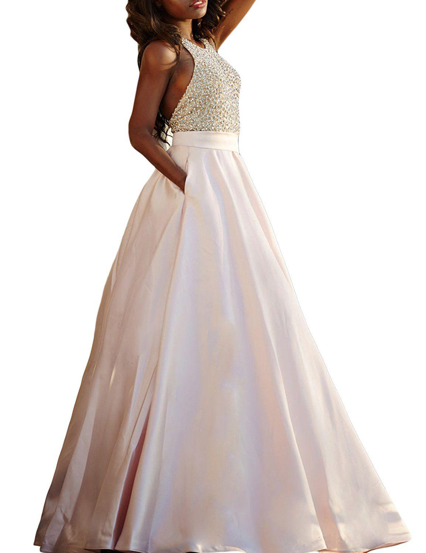 Amazon seasonmall womenus prom dresses a line halter open back