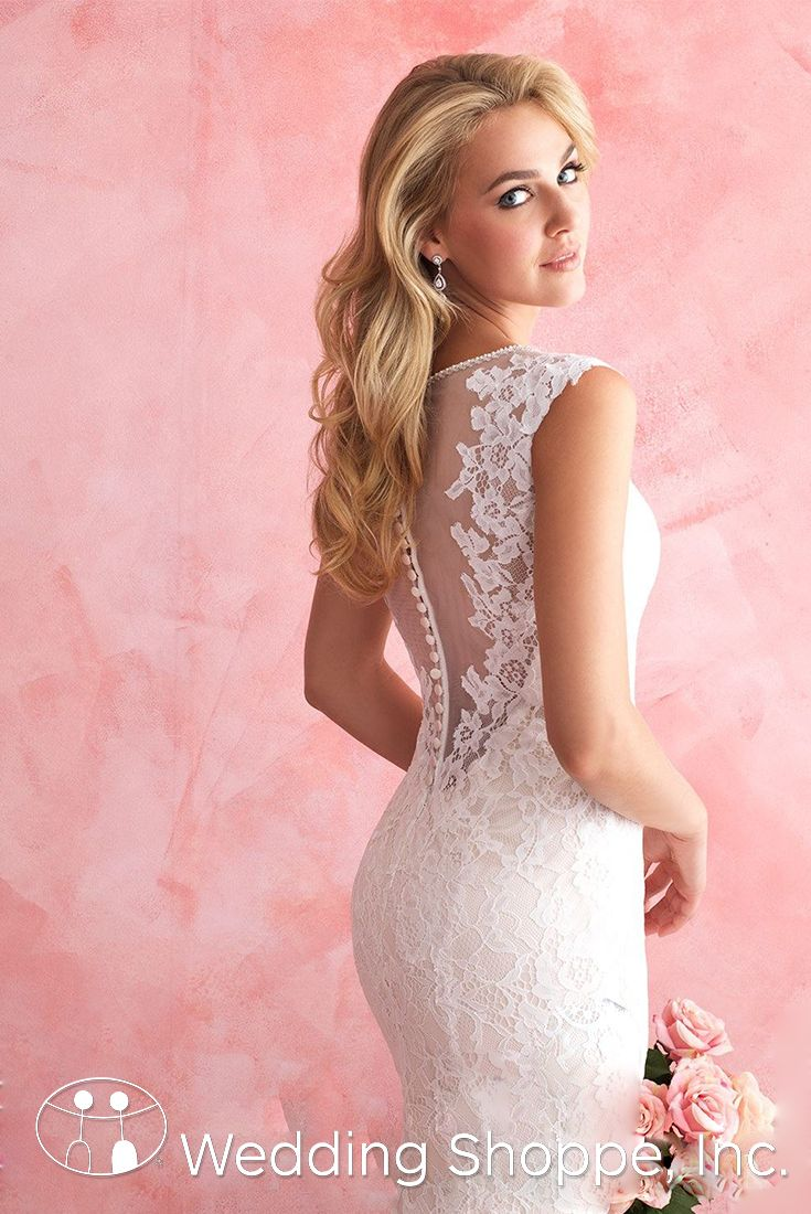 A gorgeous and romantic lace wedding dress | Allure Romance 2812 ...