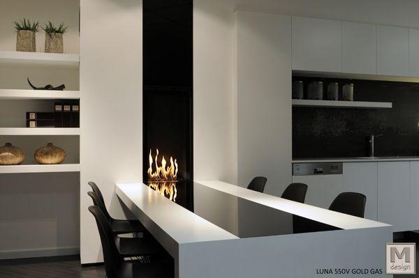 MDesign Luna GAS 550V IM-PRE-SIO-NAN-TE ambiente para la cocina - diseo de chimeneas para casas