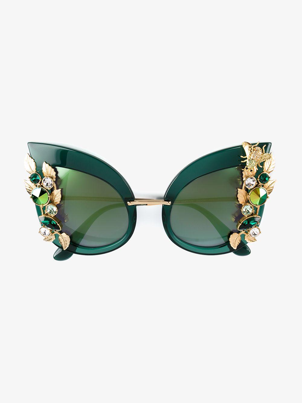 3780363bf5c Dolce   Gabbana crystal embellished sunglasses