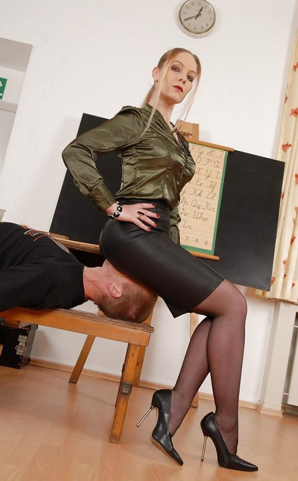 Granny teacher flirts with her student - 3 part 4
