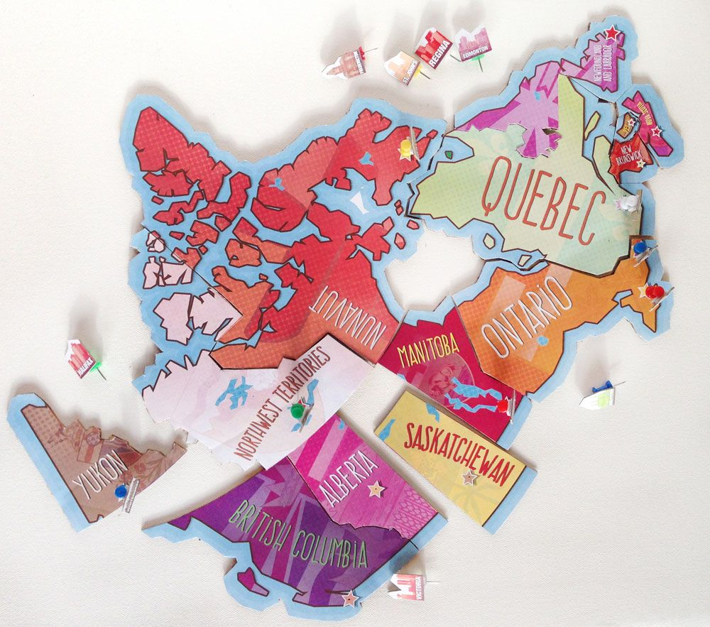 Map Of Canada Puzzle.Printable Map Of Canada Puzzle Country Study Canada Printable