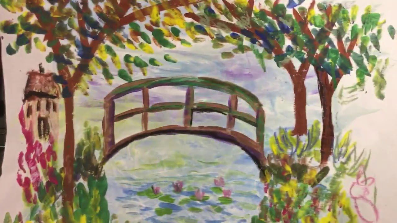Learn To Draw Claude Monet 39 S Water Lily Pond And Bridge With