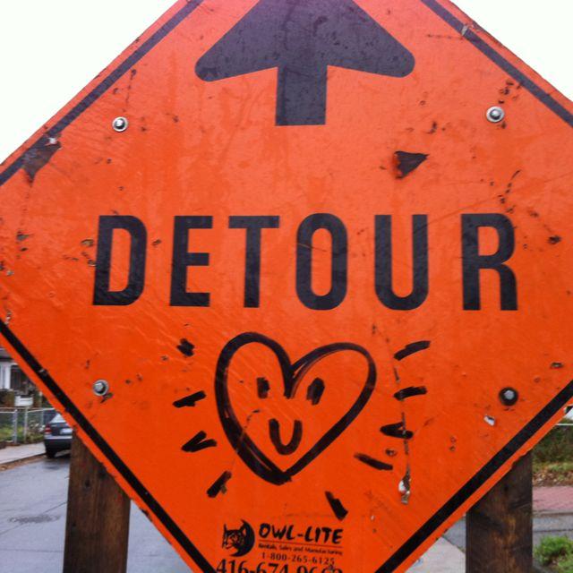 Happy Detour Sign