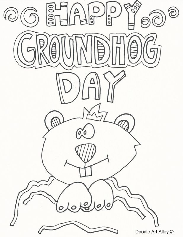 silly groundhog day coloring pages - Groundhog Day Coloring Pages Free Printable