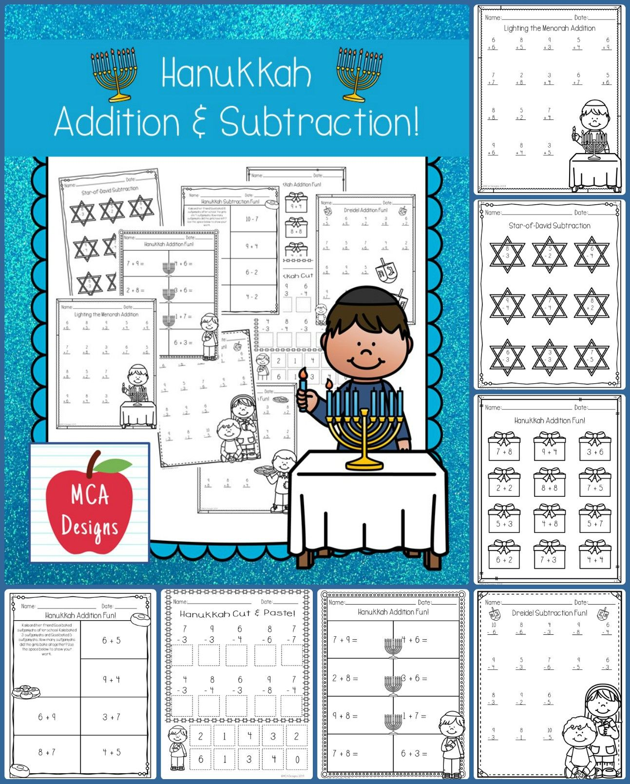 Hanukkah Addition and Subtraction Addition, subtraction