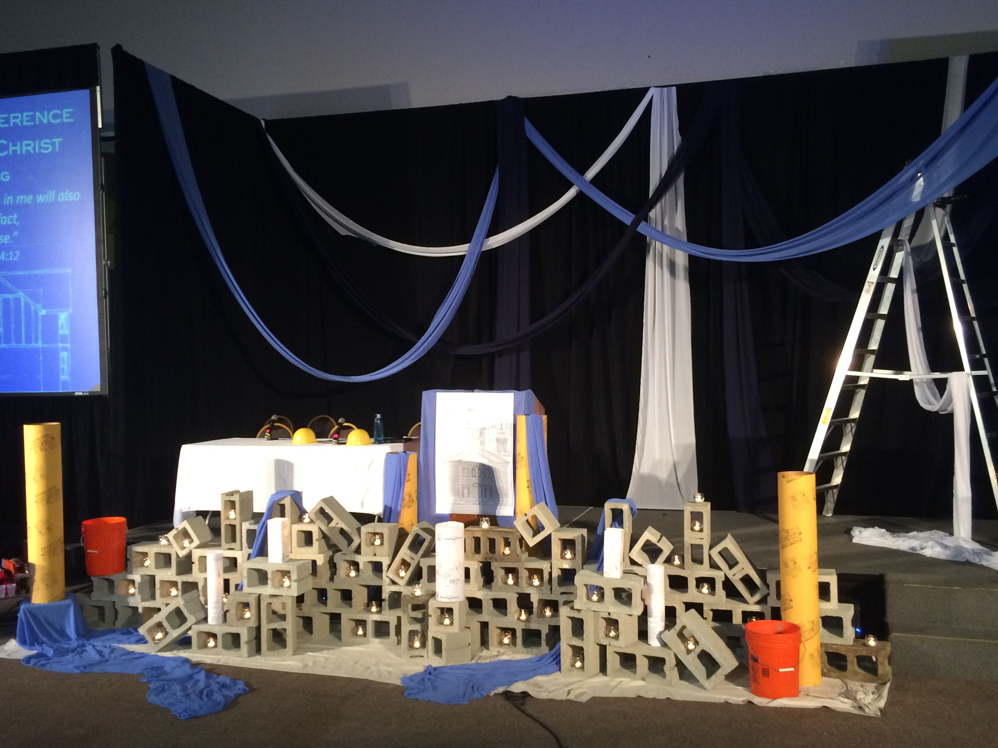 Greater worksgod has work for us to do construction themed altar greater worksgod has work for us to do construction themed altar and staging for massachusetts conference united church of christ annual meeting malvernweather Image collections