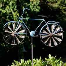 fahrrad windrad gartenstecker windspiel bike blau metall garten deko neu garten pinterest. Black Bedroom Furniture Sets. Home Design Ideas