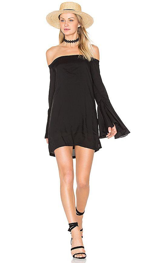 MLM Label Bronte Shoulder Dress in Black