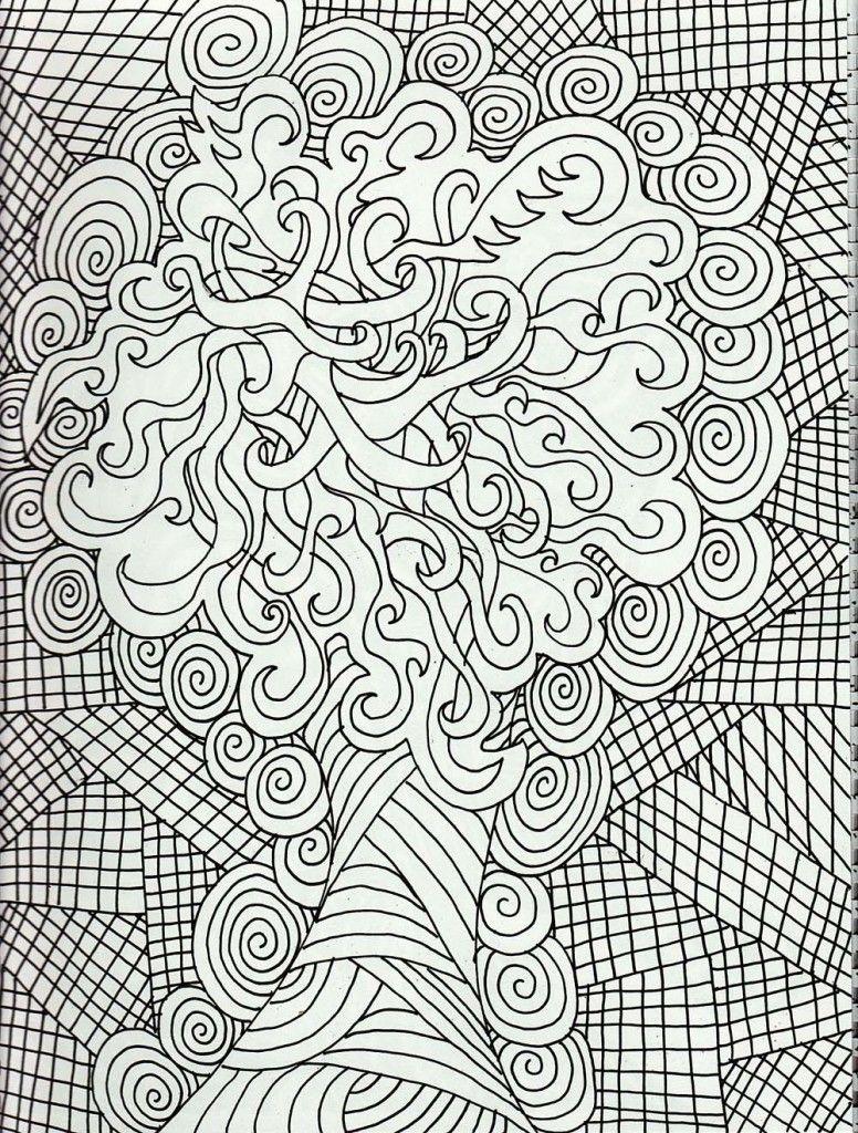Hard Design Coloring Pages Enjoy Coloring Mandala Coloring