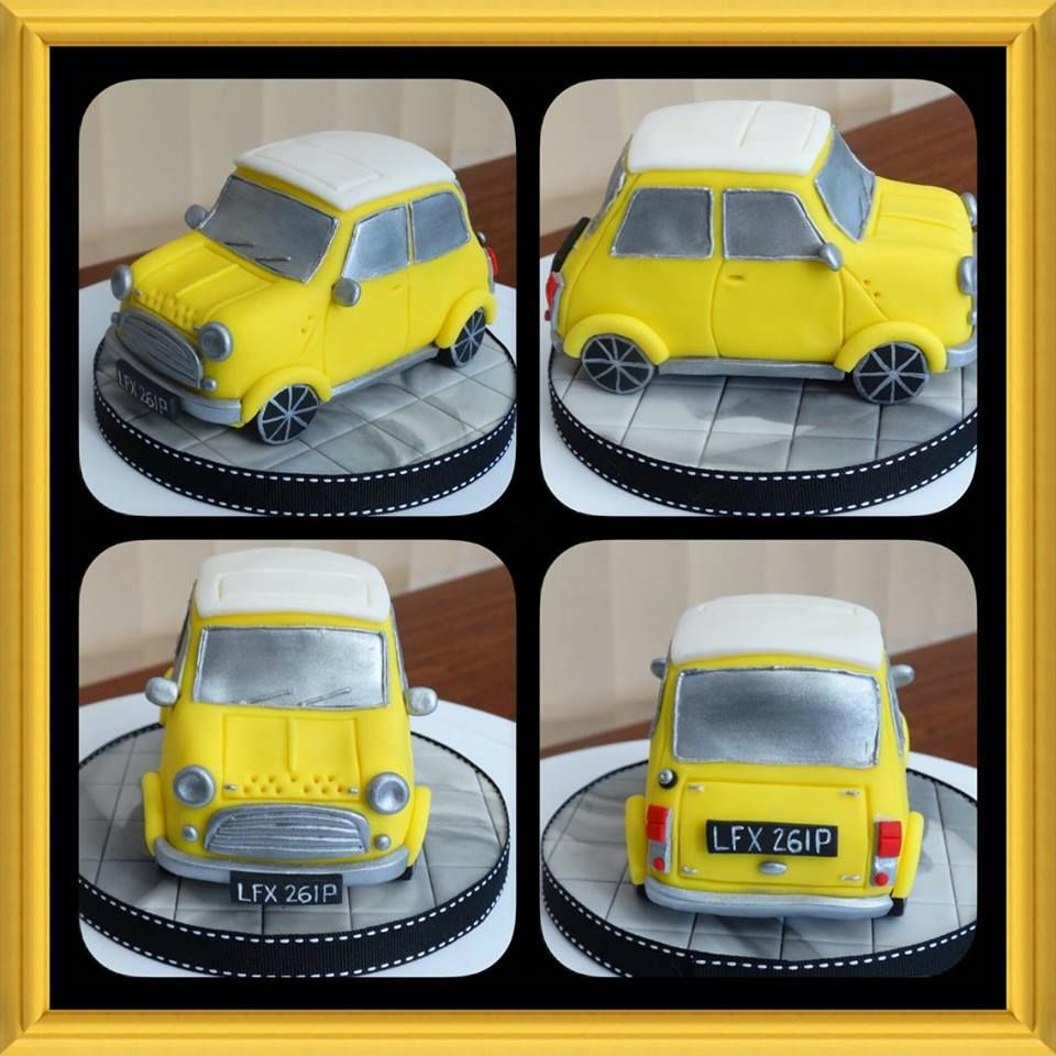 Classic Mini Car Cake Topper Made From Rice Krispy Treat Xmcx