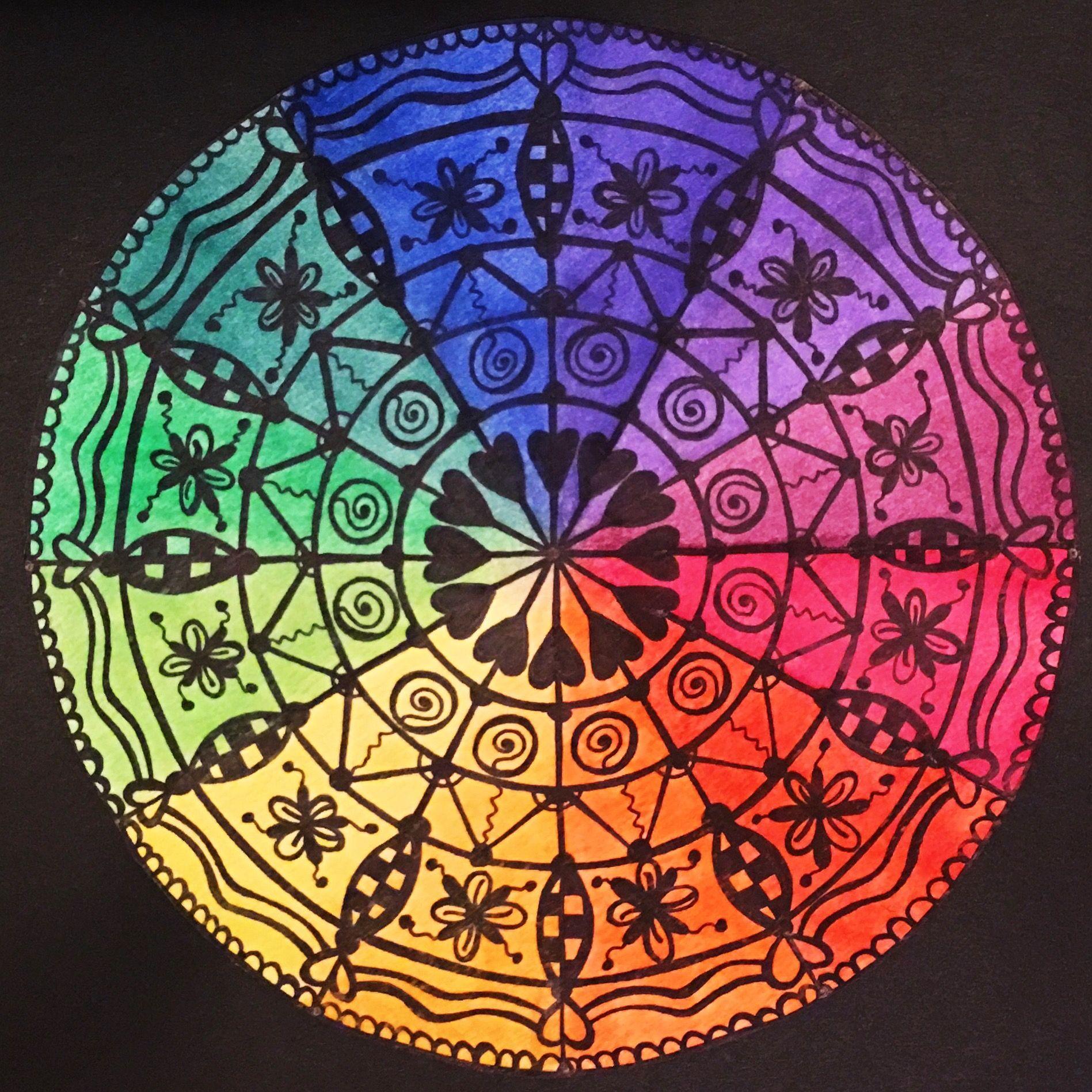 Art Mandala Art Color Wheel Design Novocom Top