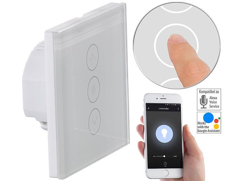 1 Way Smart WIFI Home Schalter Alexa Google Wandleuchte Touch Panel EU Stecker