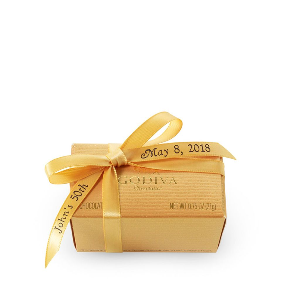 2 pc. Gold Favor - Personalized Gold Ribbon   2015 Holiday Party ...