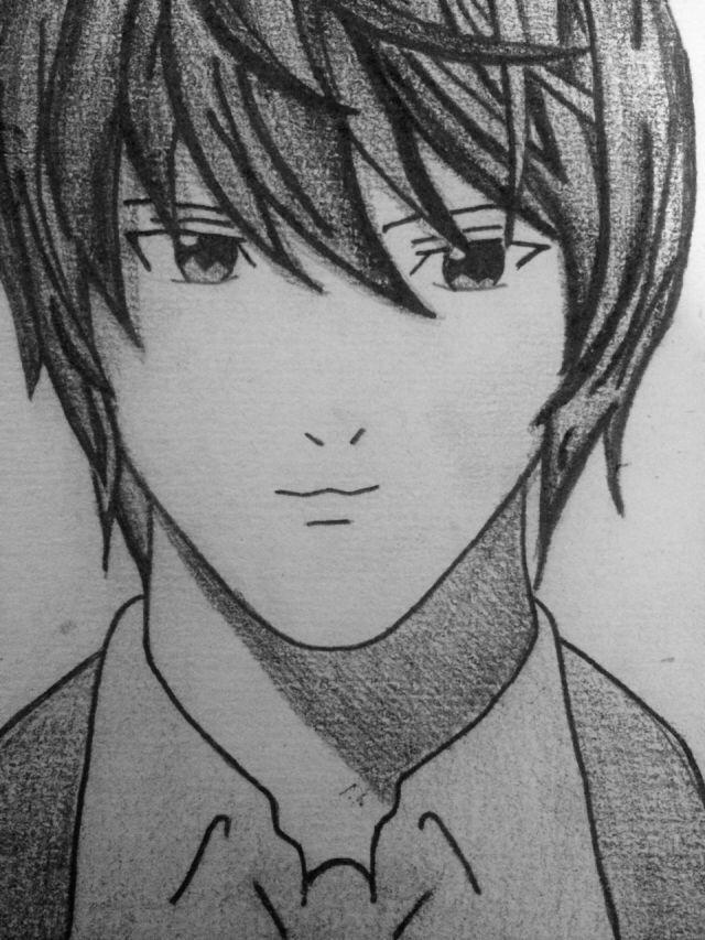 Light Yagami, Death Note Fan Art by Abby Broyles